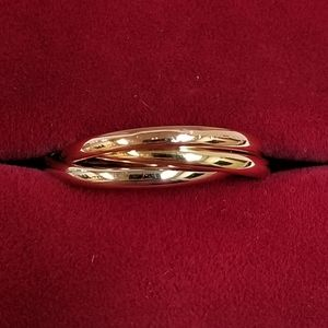 Authentic Cartier 18k Tri Color Gold Trinity Band